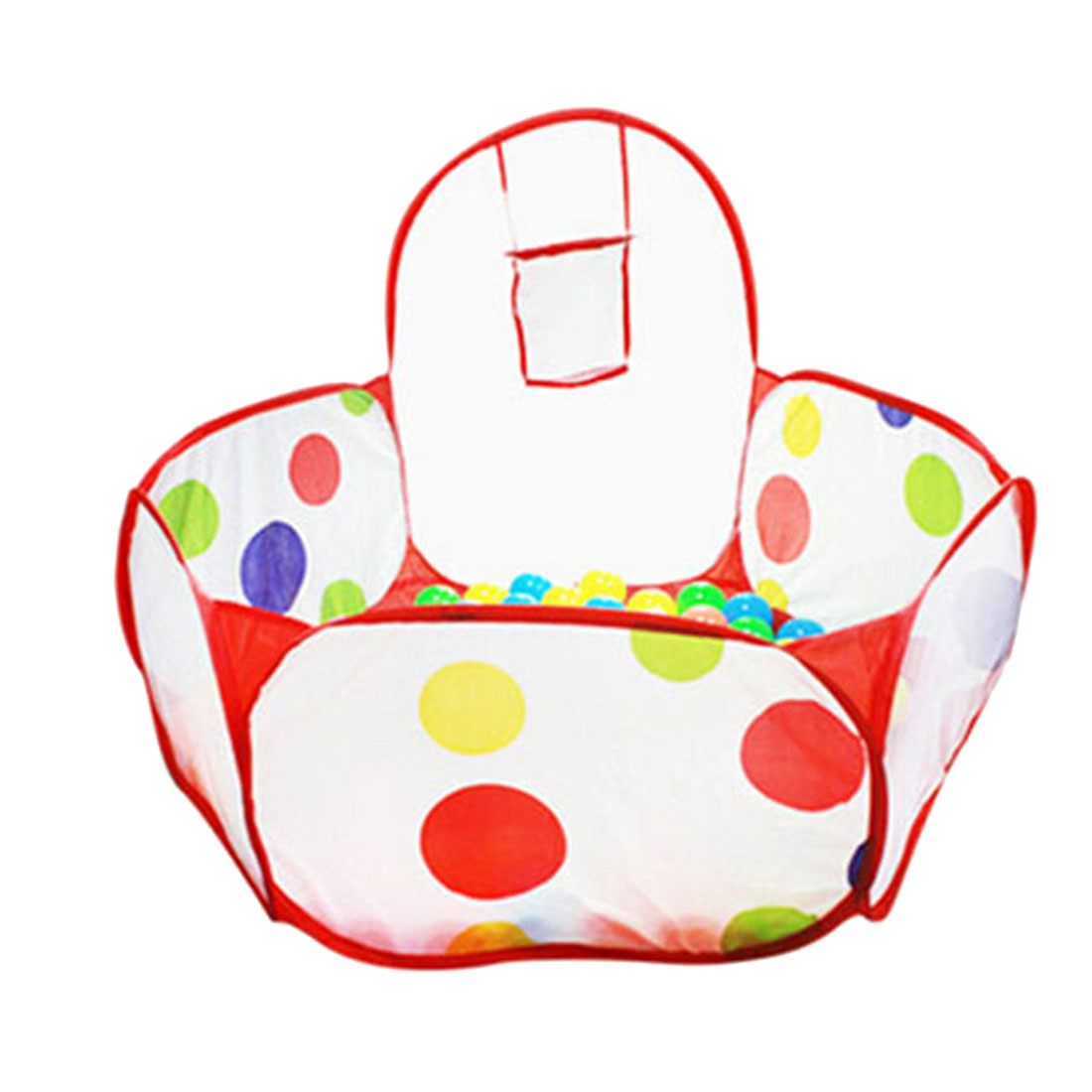 New Baby Playpen Indoor Ball Pool Play Tent Foldable Playpens Safety Portable Tent for Children Kids Polka Dot Hexagon Playpen