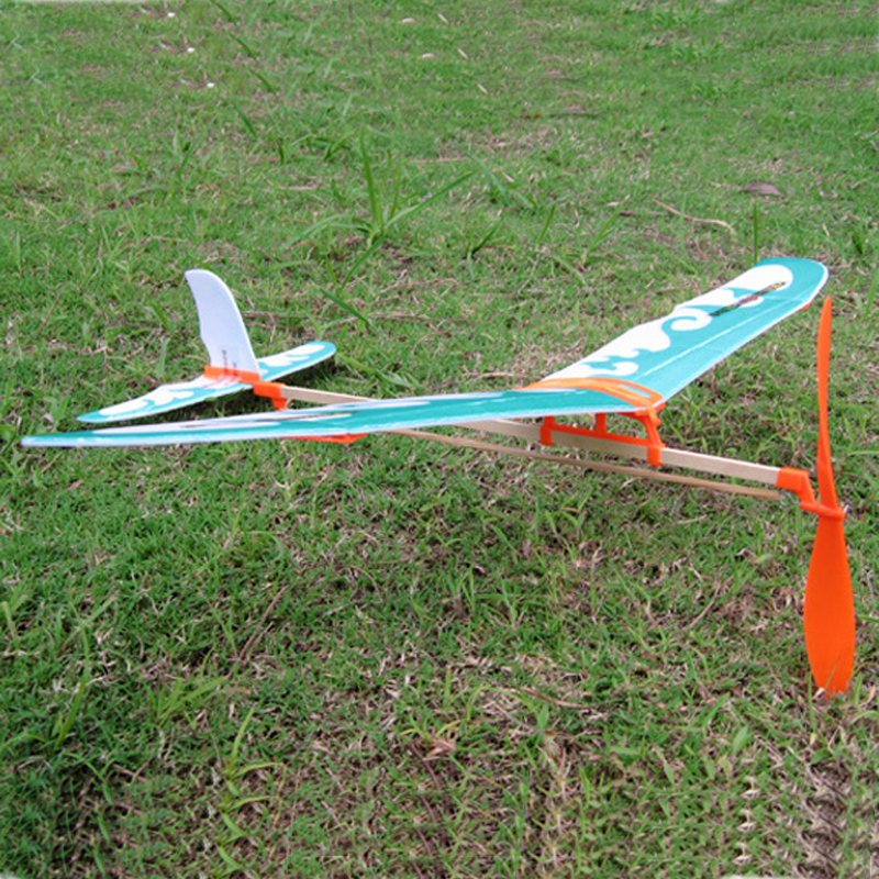 Rubber Band Airplane Paper Jet Glider model airplane Boys toys learning machine Science Toys Assembly plane Educational toys
