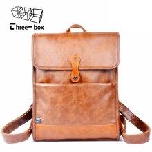 Marca de moda para hombres y mujeres mochila de cuero para hombre de negocios bolso grande de las mujeres mochila masculina mochila de viaje bolsas mochila escolar