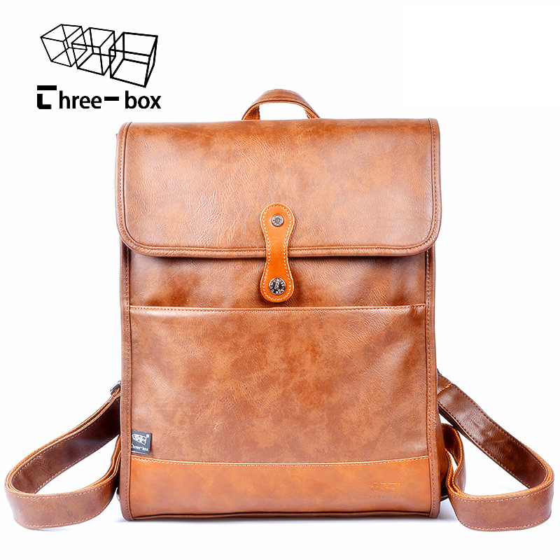 Fashion brand for men and women backpack mens leather ...
