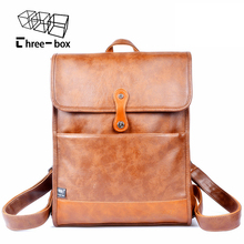Fashion brand for men and women backpack mens leather business bag large women backpack male travel