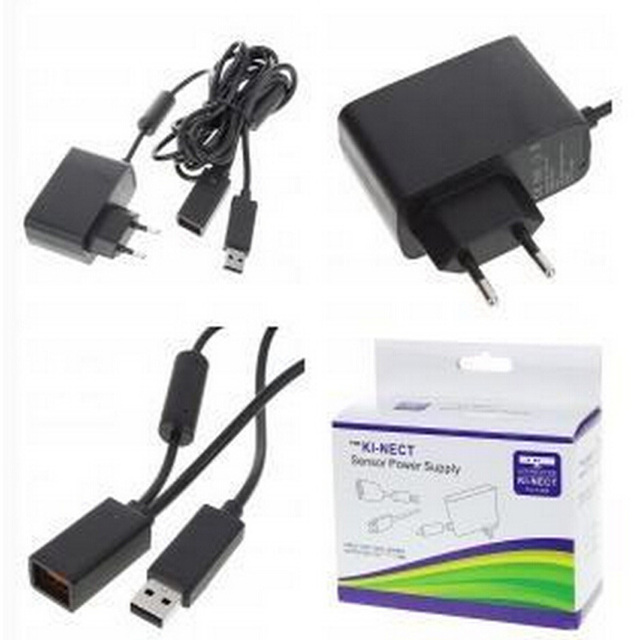 KINECT Sensor Power  Supply Adapter US/EU For Xbox 360 Kinect Sensor (Black) Free Shipping