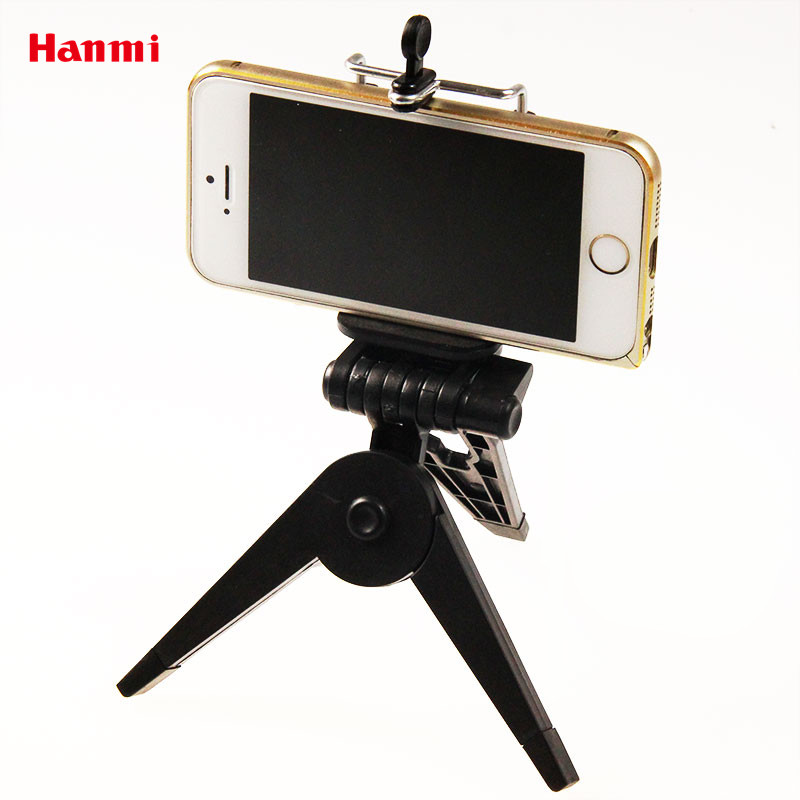 Hanmi New Table Mini Tripod Tripods with Platform Phone Clip Holder Tripod for iPhone 5 5S 5C 6 Samsung Xiaomi Smartphone Camera