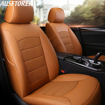 AUSFTORER Genuine Leather Seat Cover for Lexus ES350 ES300 ES250 ES300h ES330 Car Seat Covers Custom Fit Car Cushion Accessories