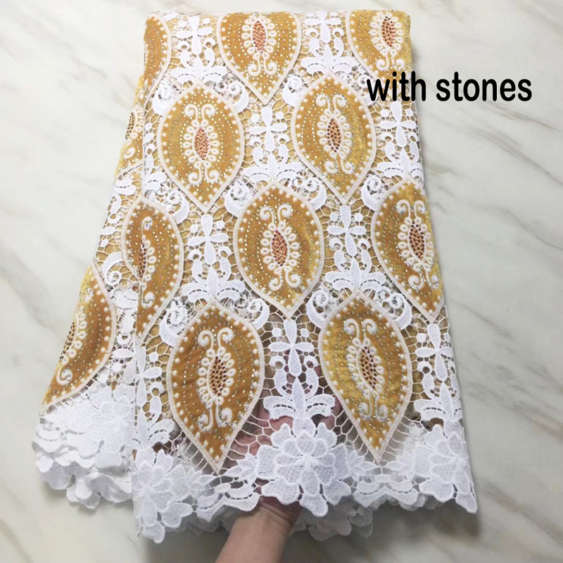 Free shipping (5yards/pc) heavy African guipure lace fabric velvet lace fabric with stones high quality for party dress   CWS91Free shipping (5yards/pc) heavy African guipure lace fabric velvet lace fabric with stones high quality for party dress   CWS91