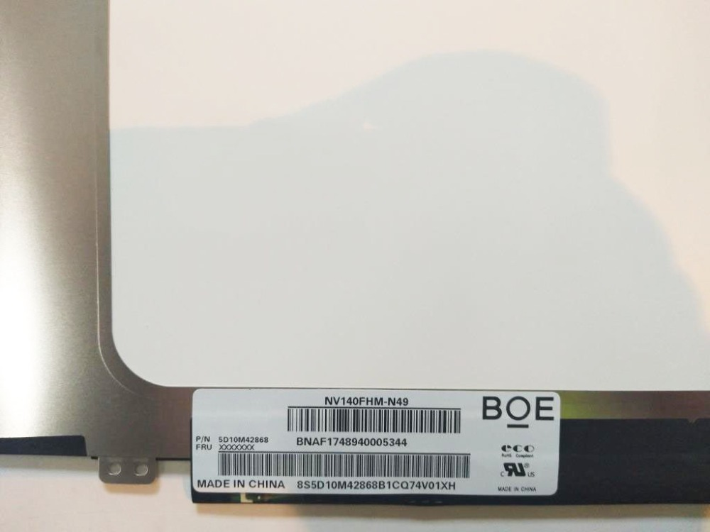 For Boe NV140FHM N49 NV140FHM N49 For Lenovo fru 5D10M42868 Matte LED Display FHD 1080P IPS