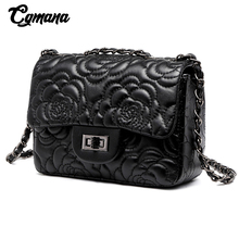 CGmana Classic Women Bags 2018 Hot Sale Small Embroidery Crossbody Luxury Brand Ladies Handbag Chain Flower