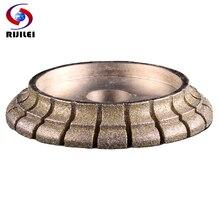 Rijilei 140mm galvanizado diamante borda perfil roda para mármore granito pedra borda perfil rebolo de diamante de02