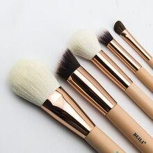 BEILI Rose Golden 5pcs Makeup Brush Set Vol.1 Powder Contour Concealer Eye Shadow Makeup Tool Pink handle