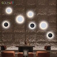 SOLFART 벽 빛 램프 LED 조명기구 라운드 방수 야외 조명 실내 벽 조명 침실 거실 AC85-265V 8663/1 pcs