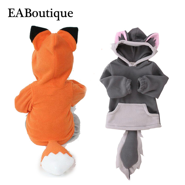 EABoutique new fashion children's winter jackets thickening Animals Fox Wolf costume fleece kids casual hooded coat