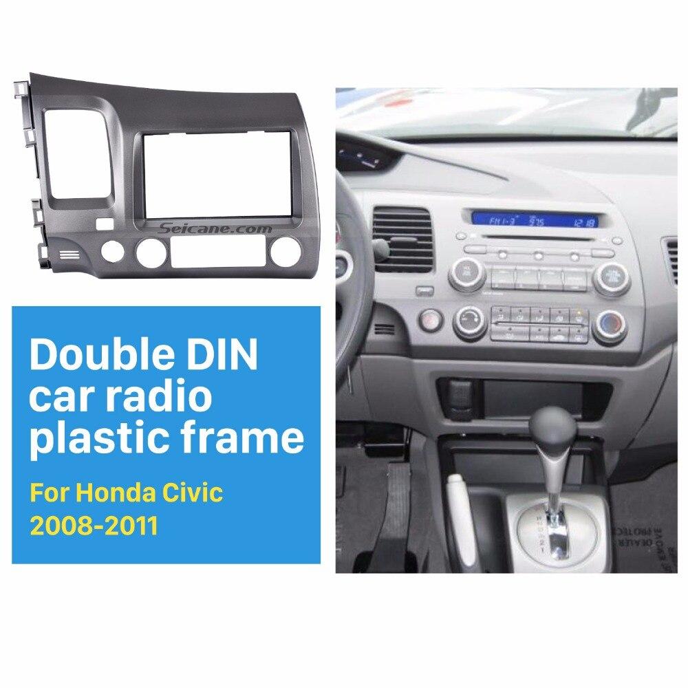 Seicane 2 Din Car Radio Fascia for 2006 2011 Honda Civic LHD with SRS Hole Installation
