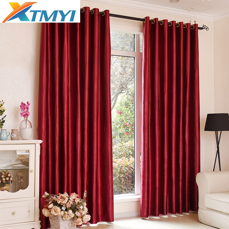 Blackout Curtains For The Bedroom Solid Colors Curtains For The Living Room Window Brown Red Curtains Blinds The Custom Made