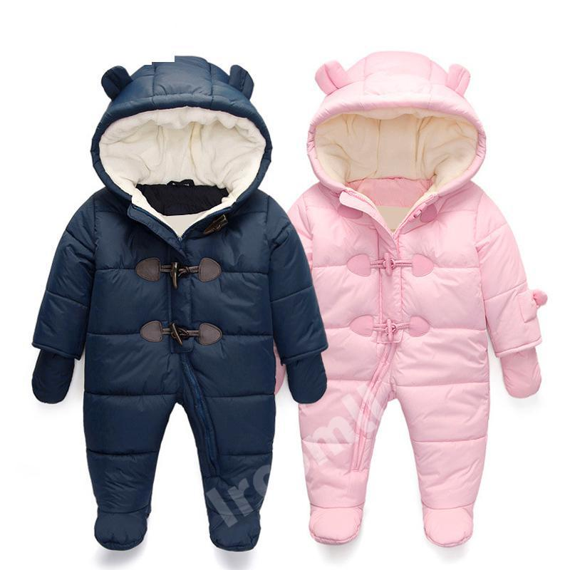 Keep Thick Warm Infant Baby Rompers Winter Clothes Newborn Baby Boy Girl Romper Jumpsuit Hooded Kid