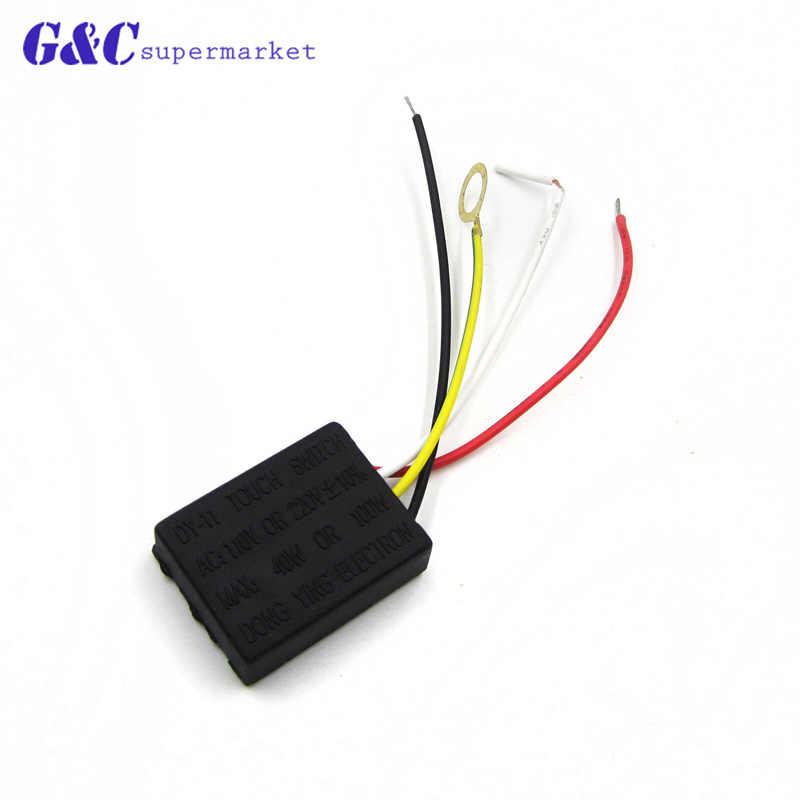 Equipo eléctrico AC 220V 1A partes del cuadro eléctrico On off 1 Way lámpara táctil Módulo de Control módulo bombilla lámpara interruptor tablero