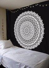 Tapisserie murale avec motif Mandala indien, motif Hippie, motif de tournesol, imprimé numérique, couvre lit, style bohémien, tapis de plage, couverture de Yoga