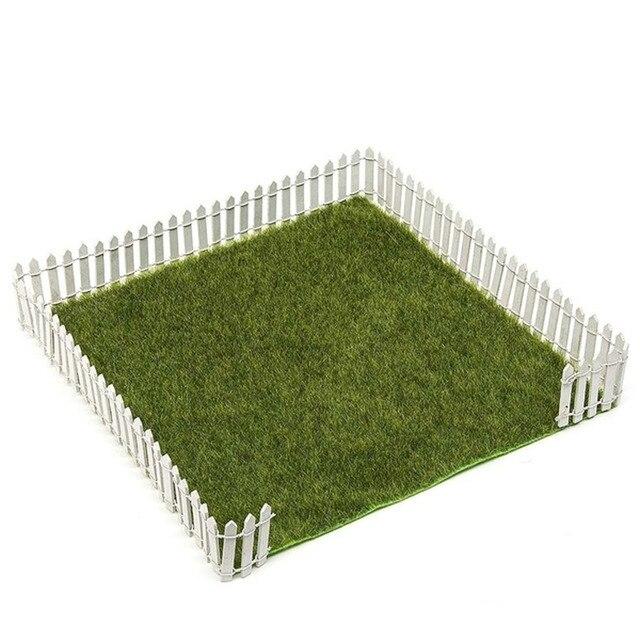 100*5cm/3cm DIY Miniature Mini Fence Fairy Garden Barrier Wooden Craft Room Decor Maison Figurine Home Decoration Accessories 6