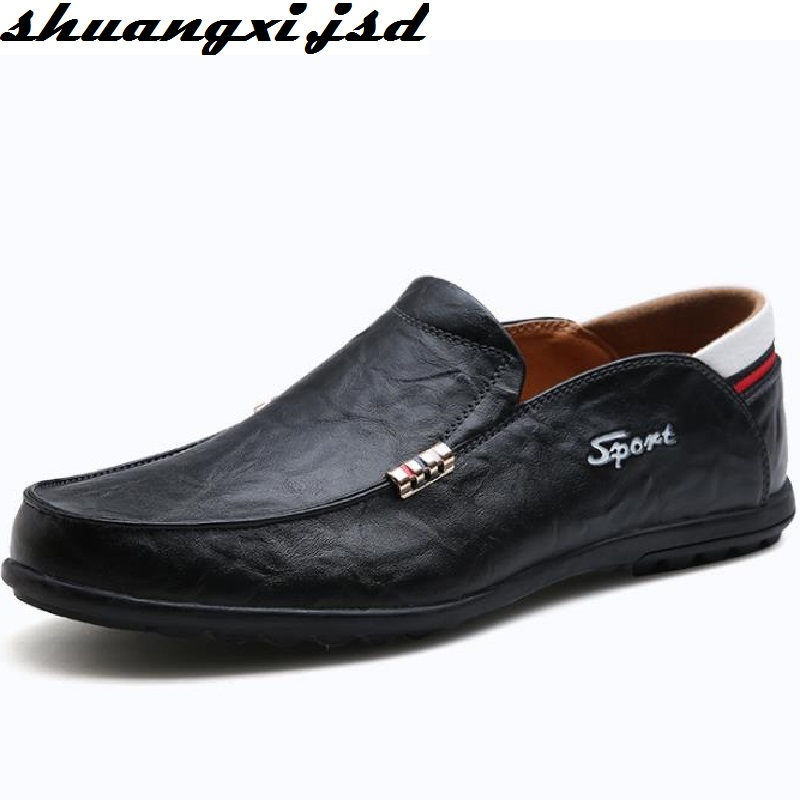 Men Genuine Leather Shoes Handmade Casual Leather Shoe Slip-on Men's Breathable Fashion Trend Shoes business casual shoes and leather doug leather shoes breathable sneaker fashion boots men casual shoes handmade fashion comforta