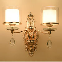 European Luxury Crystal Wall Lamp Living Room Wall Restaurant Bedroom Bedside Lamp Jane European Modern Lamp