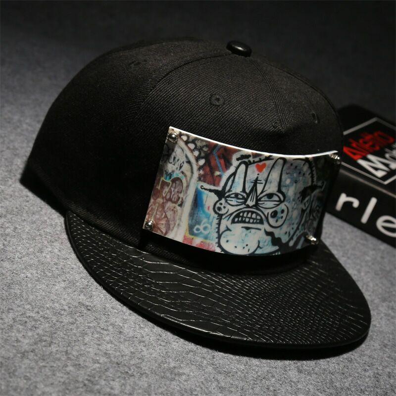 2018 new personality graffiti baseball caps original hip hop hat Harbin  Street filming popular Liu Ping Ping hat b5e15aa367e4