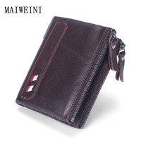 2017 HOT Selling Wholesale Price Genuine Leather Men Wallet Short Coin Purse Small Vintage Wallet Brand