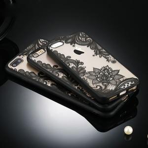 Kafan, сексуальный цветочный чехол для телефона iPhone 7 7 Plus 6 6s 5S SE, задняя крышка с кружевным цветком для iPhone X 8 8 Plus, чехлы для телефонов, аксессуары
