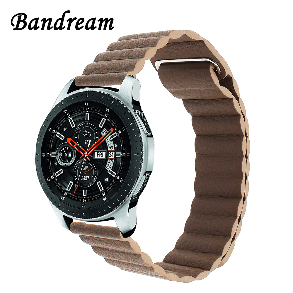 Milanese Loop Leather Watchband 22mm 20mm for Samsung Galaxy Watch 46mm 42mm R800/R810 Magnet Band Quick Release Strap Bracelet 102 6 1 2 2091910200120