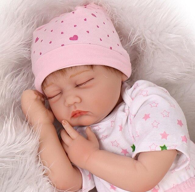 55 cm doux corps Silicone Reborn bébé poupée jouet pour filles nouveau-né fille bébé cadeau d'anniversaire à enfant coucher tôt éducation jouet