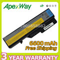 Apexway 6600 mah 9 celdas de batería para portátil lenovo ideapad g465 g470 G475 G560 G565 G570 G780 G770 V360 V370 V470 V570 b570 Z370