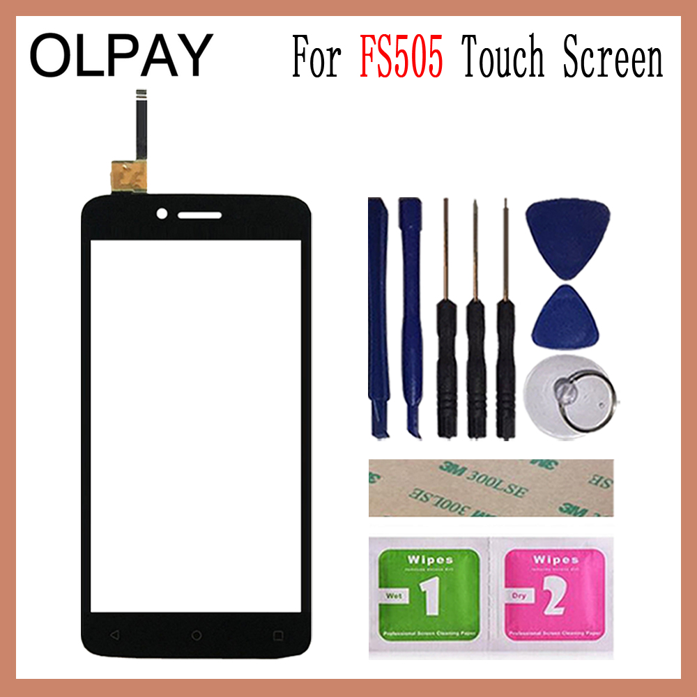OLPAY 5.0 Inch For Fly FS505 Nimbus 7 FS 505 Touch Screen Glass Digitizer Panel Touch Screen Front Glass Lens Sensor Tools