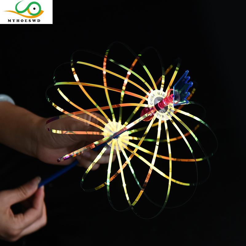 MYHOESWD 4PCS/Lot Novelty Gag Toys Light Up Flashing Glow For Party Toys Kids Gift Anti-stress Fun Toys For Adults Child Rainbow