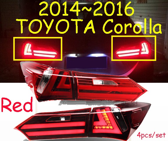 car-styling,Corolla Taillight,2014~2015,led,Free ship!4pcs,Corolla fog light;car-covers,Corolla tail lamp; Corolla car styling golf6 taillight 2011 2013 led free ship 4pcs golf6 fog light car covers golf7 tail lamp touareg gol golf 6