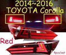 Auto-styling, Corolla Rücklicht, 2014 ~ 2015, led, Freies schiff! 4 stücke, Corolla nebelscheinwerfer auto-deckt, Corolla rücklicht; Corolla