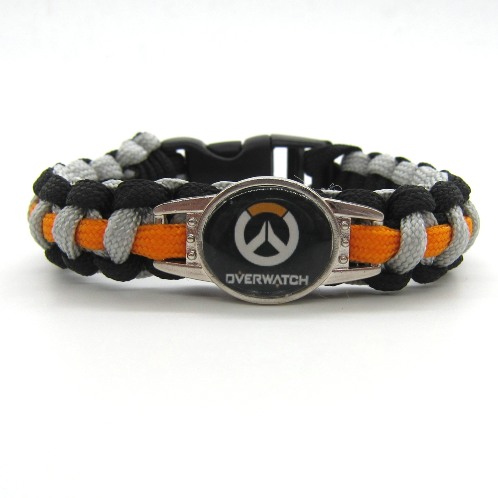 2016 New Arrival Overwatch Paracord Bracelets OW Hot Game Rope Chain Fashion Handmade Jewelry for Women Men fans High Quality