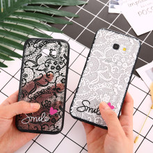 Lace Flower Hard PC+TPU Cases for Samsung Galaxy A3 A5 A7 2017 J2 J3 J5 J7 Prime 2016 Note 8 9 S8 S9 Plus A6 A8 2018 S7 S6 Edge(China)