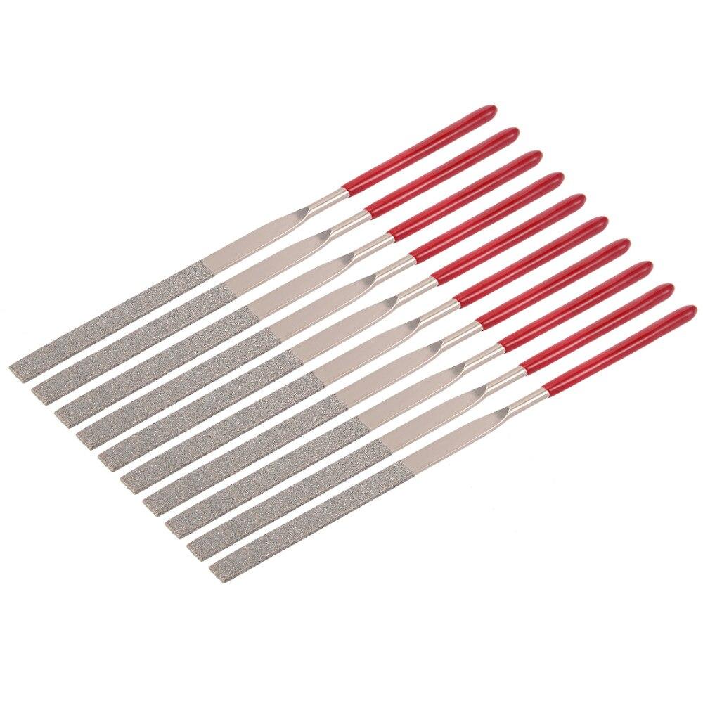 UXCELL Hot Sale 10 PCS 150 Grit 4x160/5x180/3x140mm Triangular /redondo/Flat/Half Round Arquivo Agulha de Diamante, ofício da arte, Jóias DIY