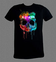 Drum And Bass Dubstep Music Style Skull Cool Black T Shirt All Sizes Available Short Sleeve