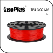 Worldwide Fast Delivery Manufacturer 3D Printer Material 1kg 2.2lb Soft 3mm Flexible Red TPU Filament