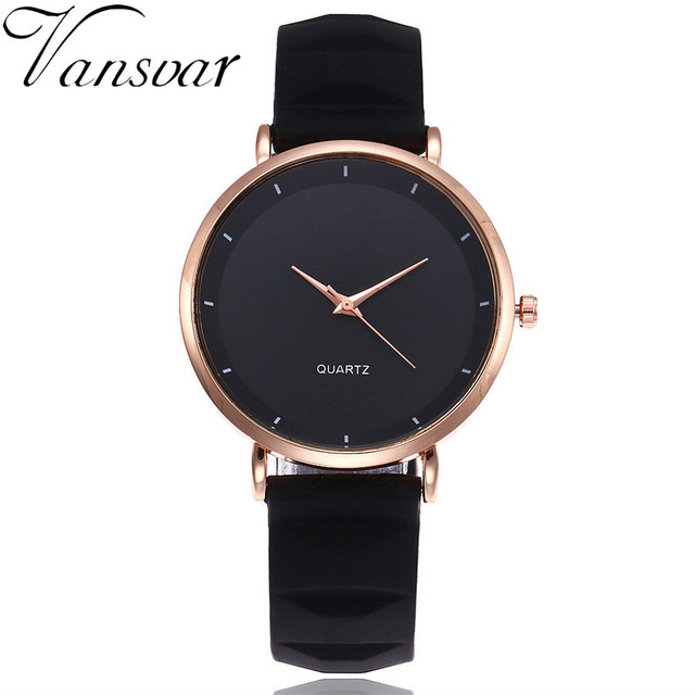 Vansvar Fashion Jelly Silicone Women Watches Luxury Brand Casual Ladies Quartz Clock Wristwatches Clock Montre Femme 1