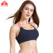 SYPREM Yoga Sports Bra Women Corset Gym Fitness Running Shockproof Push Up Sexy Vest Removable cup cute Bow Brassiere,1FT0900