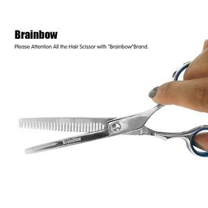 Image 5 - Brainbow 6 cali wycinanie usuwanie urządzenie do stylizacji włosów nożyczki nożyce fryzjerskie ze stali nierdzewnej regularne płaskie zęby ostrza