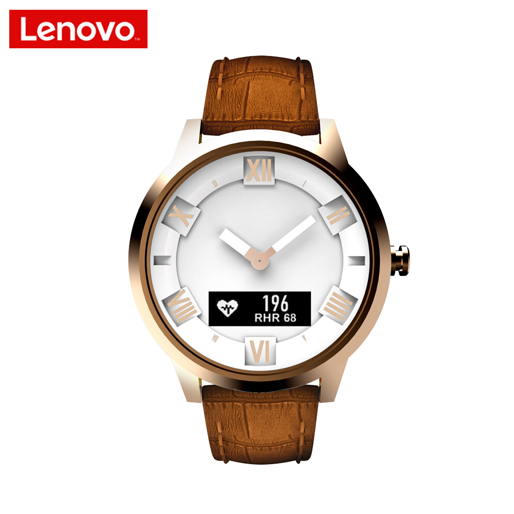 Lenovo Smart Watch Leather Limited Edition Watch X plus Rose Gold Business Watch Heart Rate/Air Pressure/Temperature Monitoring