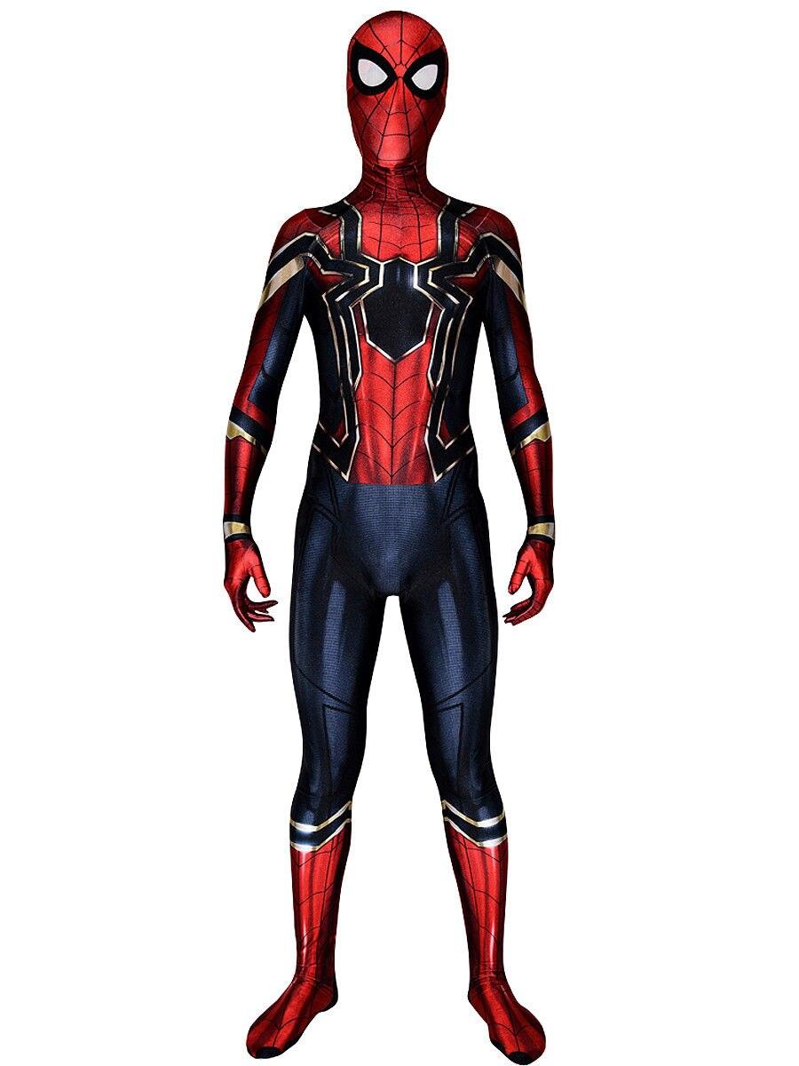 Iron Spiderman Costume Amazing Spiderman Superhero Costumes Sapndex Lycra Cospasly Halloween Zentai Spider Suit