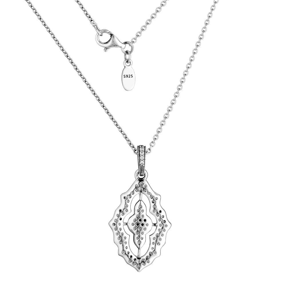 CKK Pendant Necklace Choker Silver 925 Jewelry Silver Pendant with CZ and Necklace Sterling Silver Necklaces for Women collier in Necklaces from Jewelry Accessories