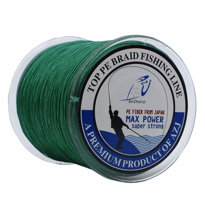 Anzhenji Top Super Power 300M 330Yards Braided Fishing Line PE Fiber Line 4 Strands Lines Multifilament 5LB-100LB Peche image