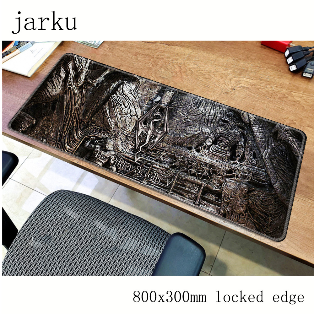 Gel Skyrim Mouse Pad Gamer Accessories 800x300mm Notbook Mouse Mat Large Gaming Mousepad Best Seller Pad Mouse PC Desk Padmouse