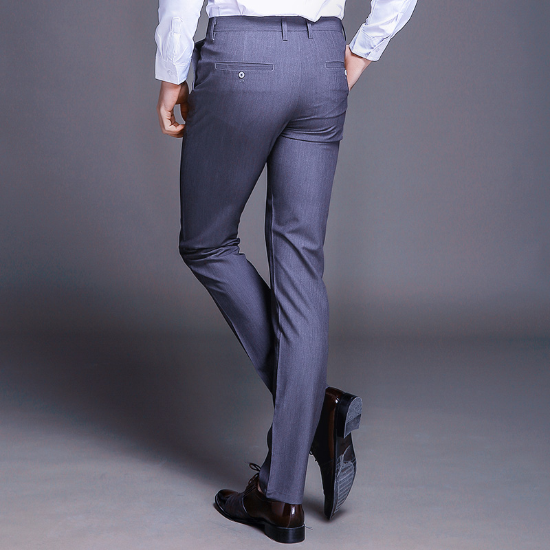 Fashion New High Quality Cotton Men Pants Straight Spring and Summer Long Male Classic Business Casual Trousers Full Length Mid 1