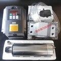 2.2kw Refrigerado A Água CNC Motor Spindle ER20 4 rolamento & 2.2kw VFD/inversor & 80mm Eixo Braçadeira/Suporte & 75 w bomba de água 220 v