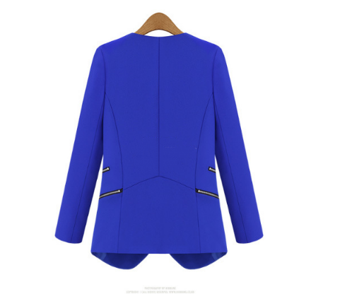 Mr.Nut 2019 New Personalized Zip Pocket Authentic Slim Small Suit Jacket Tide Spring And Autumn Models Female