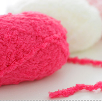 Wholesale 3 Pieces 150g/lot Coral fleece kintted by 5mm crochet High quality Thick yarn for kids Super Solft